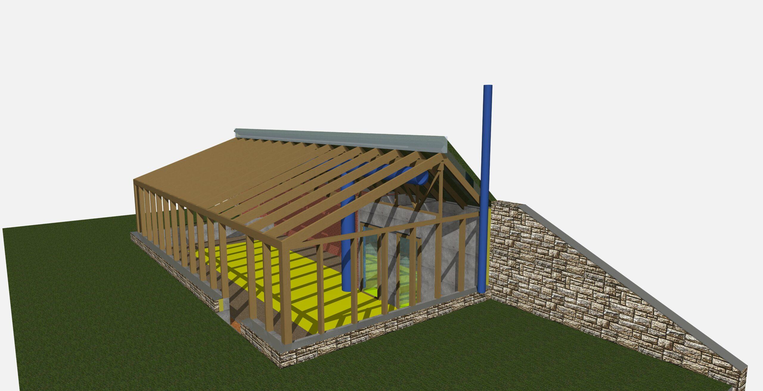 3D-visualization Greenhouse
